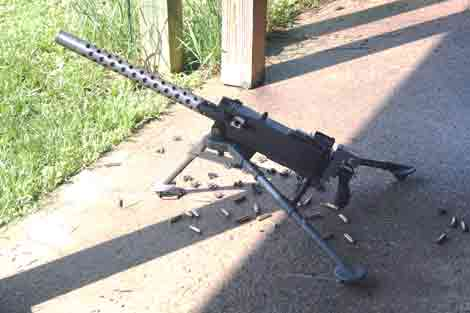 The Browning MG (Semi-auto crank gun) of Argghhh! after...