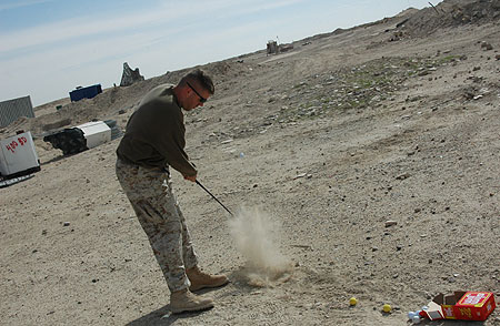 Photo copyright Akinoluna at: http://akinoluna.blogspot.com/2006/03/golf-iraq-style.html