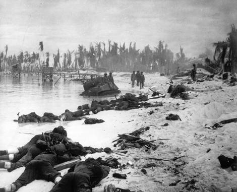 Red Beach 2, Tarawa, 20 november, 1943