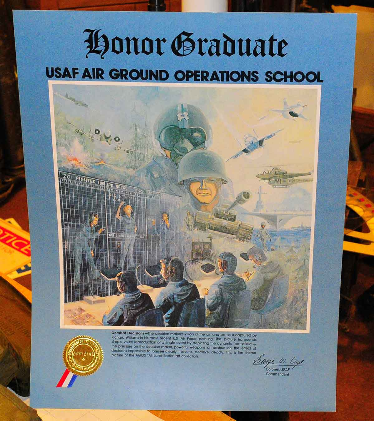 AGOS Honor Grad poster.