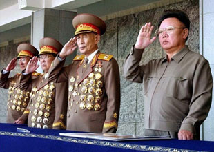 North Korean Boy Scouts with Merit Badges.