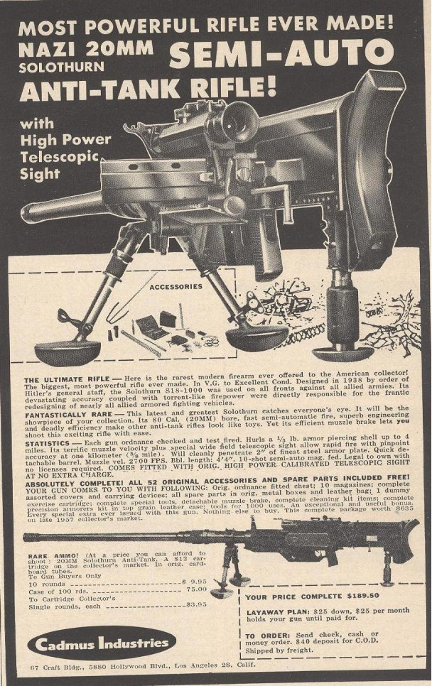 Ahhhh, the good old days of gun collecting.